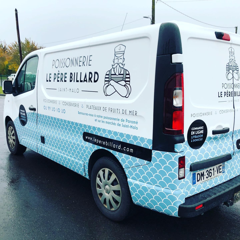 Camionnette de la POISSONNERIE LE PÈRE BILLARD à Saint-Malo