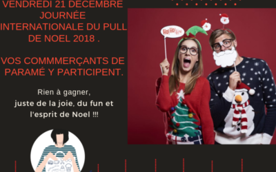 Admirez les pulls de Noël de vos commerçants à Paramé