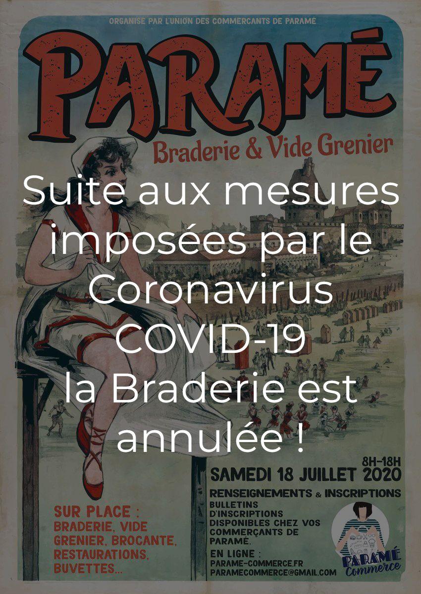 Affiche Braderie Paramé 18 juillet 2020 ANNULÉE