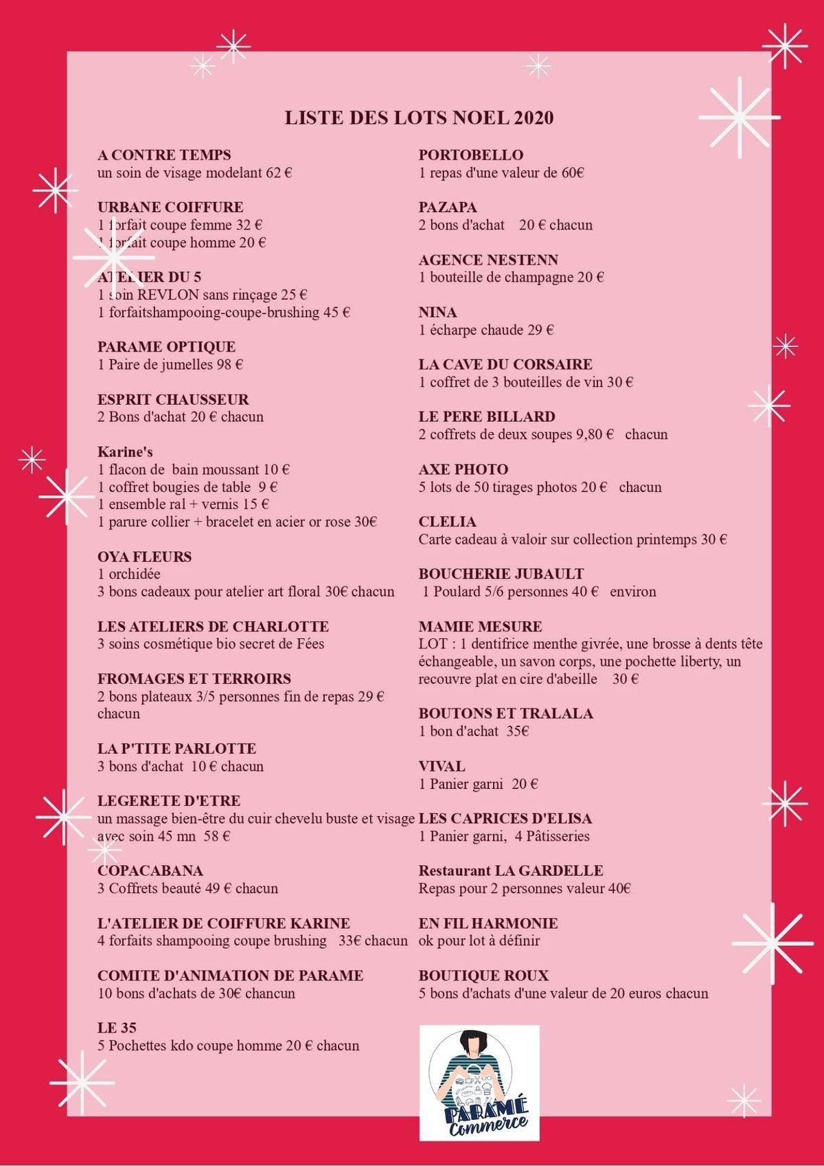 Commerçants Grand jeu de Noël de Paramé du 14 au 31 décembre 2020