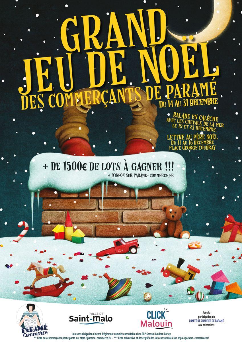 Grand jeu de Noël des commerçants de Paramé du 14 au 31 décembre 2020
